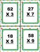 2 digit by 1 digit task cards with answer recording sheets