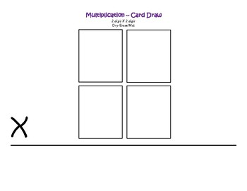 2 digit by 2 digit Multiplication Practice/Game