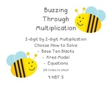 4.NBT.5 - 2-digit by 2-digit Multiplication QR Code Task Cards