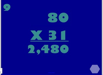 2 digit by 2 digit multiplication SMART Board Game