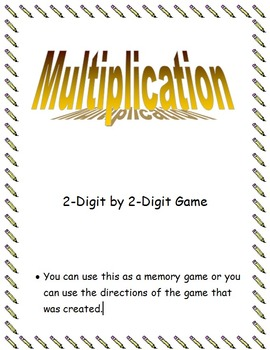 2 digit by 2 digit multiplication game