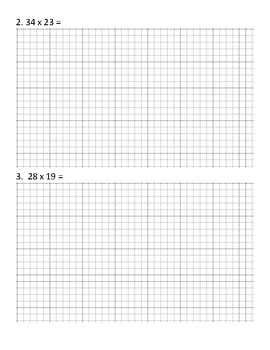 2 digit by 2 digit multiplication with area model by ...
