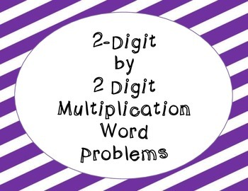 multiplication word problems (2 digit by 2 digit)