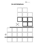 2 digit by 3 digit multiplication graphic organizer
