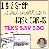 2 digit divisors and Multiplication Word Problem Task Card