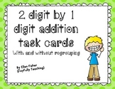 2 digit plus 1 digit task cards