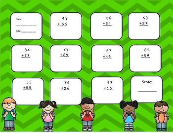 2-digit plus 2-digit addition
