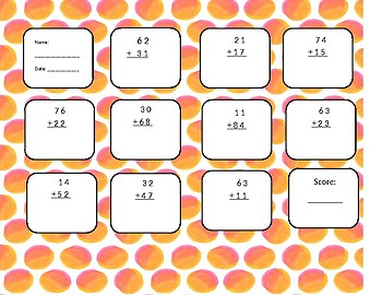 2-digit plus 2-digit with no regrouping