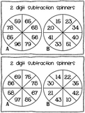 2 digit subtraction game - without regrouping