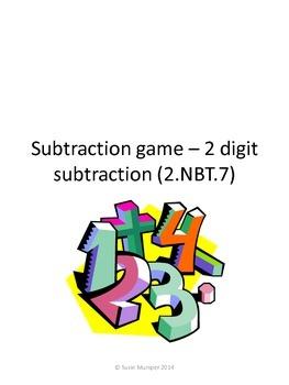 2 digit subtraction math activity