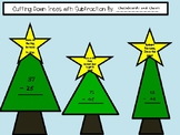 2 digit subtraction review (christmas tree themed)