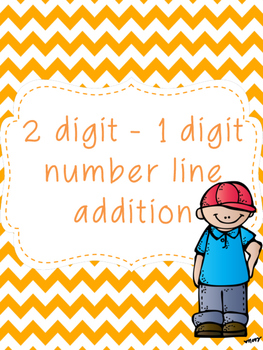 2 digit to 1 digit Number Line Addition