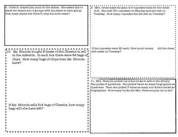 2 digit x 1 digit Multiplication 3.4B STAAR Review