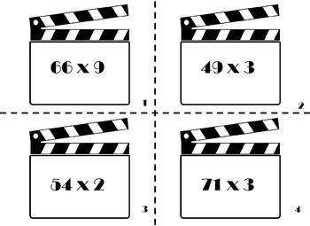 2 digit x 1 digit Multiplication Scoot