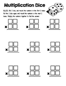 2 digit x 2 digit multiplication dice center tpt