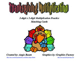 2-digit x 2-digit Multiplication Thanksgiving Theme