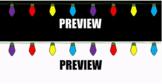 """2 for 1! Google Classroom Animated Theme """"Christmas Lights"""""""