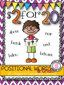 $2 for 20 POSITIONAL WORDS AND GRID Math Practice