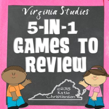 Virginia History 5 in 1 Review Games