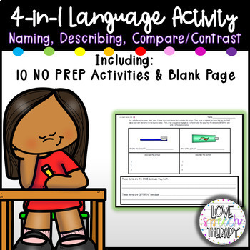 3-in-1 - Naming Pictures,Describing,Compare & Contrast