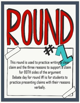2-in-1 Argumentative Essay Outline Writing and Debate (Round #1)