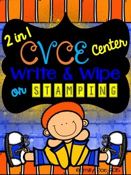 2 in 1 CVCE Center - Write and Wipe or Stamping Fun!
