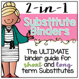Substitute Binder EDITABLE { for Short and Long Term Subs } Melonheadz