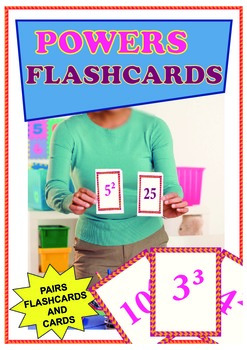 2 in 1 - Powers FlashCards and Pairs of Powers