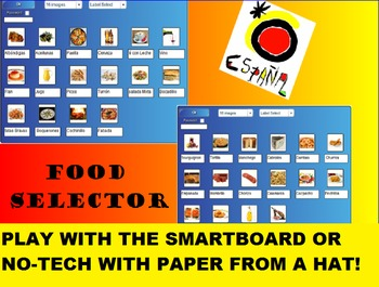 Spanish Food SMARTboard Bingo and SMARTboard Food Selector; Spain, Culinary