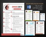 2 in 1 modern photo teacher resume template, easy edit teacher resume