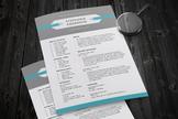 2 in 1 modern teacher resume template for MS PowerPoint, PPTR14