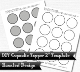 2 inch party circle cupcake topper template DIY