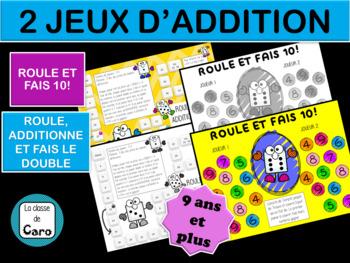 2 jeux d'addition - Mathématiques - imprimable