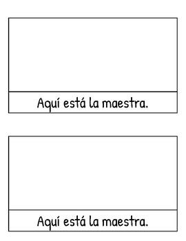 2 libros/workbooks/libretas (K & 1) La escuela en español: School Vocab Spanish