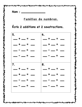 2 math centers in French- Christmas - freebie