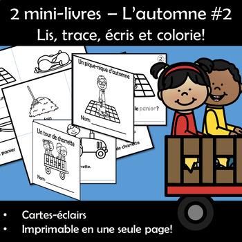 2 mini-livres – L'automne - Lis, trace, écris et colorie! Série 3