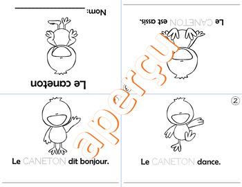 2 mini-livres PRINTEMPS #7 L'école - Le caneton