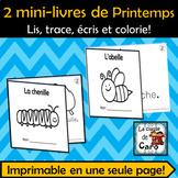 2 petits livres - Thème PRINTEMPS #1 - L'abeille - La chenille