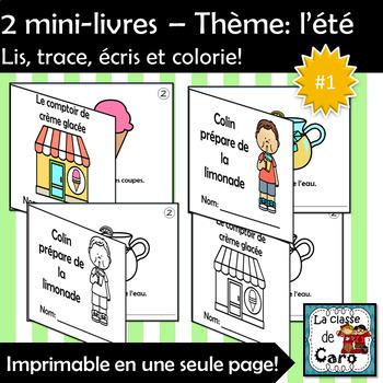 2 mini-livres – Thème: l'été - Lis, trace, écris et colorie!