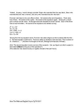 2-minute mystery (Pommier Murder Mystery)