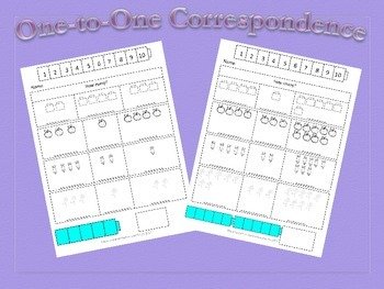 2 months of Kinder Math: One to One Correspondence, Addition/Story Problems to 5