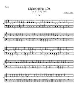 2-note Beginning Sightreading for First Year Choir - Easy Sightsinging Exercises