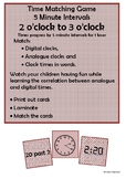Time - 2 o'clock to 3 o'clock by 5 minute intervals