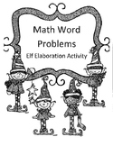 Christmas 2 or 3 Digit Multiplied by 1 Digit Word Problems Activity