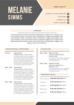2 pages Word resume, cover letter, business card pack templates