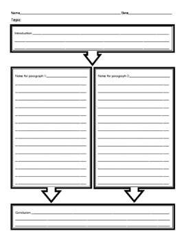2 paragraph essay organizer