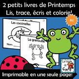 2 petits livres - Thème- Le printemps #4 - Les coccinelles - La grenouille