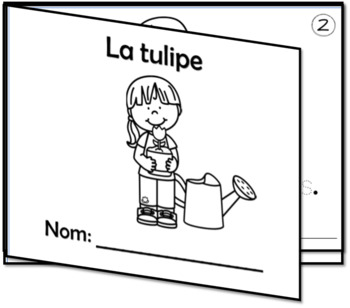 2 petits livres - Thème PRINTEMPS #5 - Le jardin - La tulipe