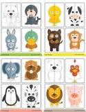 2 pieces animals puzzle & memory game
