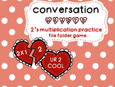 2's Multiplication File Folder- Hearts